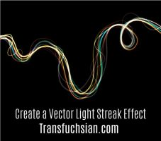 How to create a vector neon light streak effect in by Transfuchsian