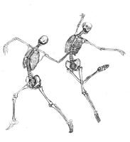 dancing skeletons by shir-a
