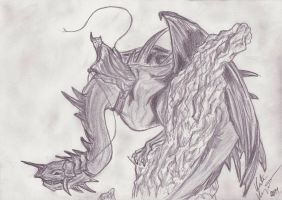 Fell Beast 'n' The Witch King by katzifilth
