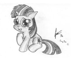 Calendar Sketch 16: Filly Twilight by Snetri