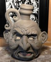 First Face Jug of 2014-WIP by thebigduluth