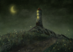 Lonley tower-  improved colors by michausmichaus