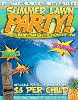 Summer Lawn Party Sample Flyer by Treybacca