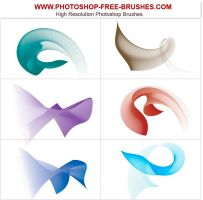 Photoshop flowing curve brush by VELAVAN