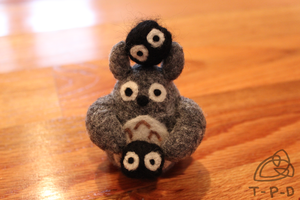 Totoro Needle Felt by the-pink-dragon