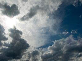 cloudy sky himmel sun by archaeopteryx-stocks