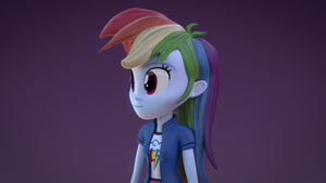 Equestria Girls 3D- Rainbow Dash Test (GIF) by fimoman