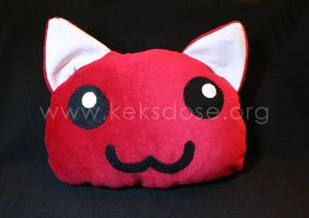 Cute Kitty Blob Plushie by yumkeks