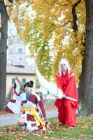 Inuyasha and Kagura by DrawenZzZz