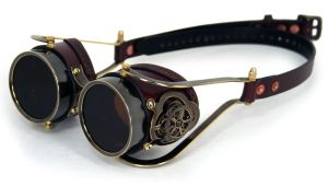 Clockwork Goggles Brown Leather by AmbassadorMann