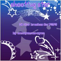 Shooting Star PSP9 Brushes by anonymous-nyne
