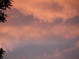 Twilight Orange Clouds Sky 09 by FantasyStock