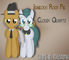 Igneous Rock Pie and Cloudy Quartz by Cyber-murph