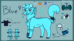Blue reference - Fursona 2017 by ShoumyEevee