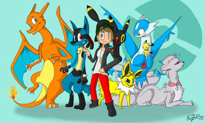 My Pokiman Team by Insaneus