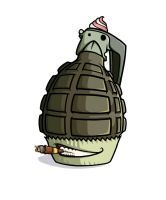Cakes of Death: Grenade Cake by taves