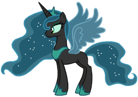 Season 2 Princess Luna in Queen Chrysalis's colors by AdolfWolfed4Life