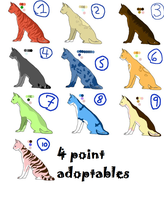 4 Point Adoptable cats by Steffansadoptables