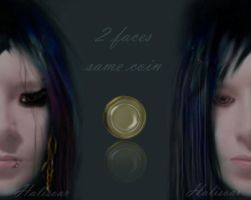 two faces by Halisoar