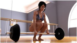 Girl who lifts [image 2] by RetroDevil