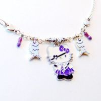 Pirate Hello Kitty Hearts Fish Necklace by Techcycle