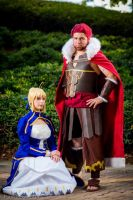 Two Kings - Fate/Zero Cosplay - Saber and Rider by Monostache