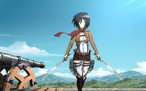 Attack On Titan - Mikasa Ackerman by xZDisturbedZx