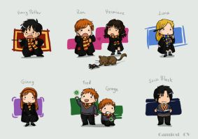Chibi Harry potter by camlost