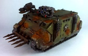 Chaos Space Marines Rhino (Nurgle) by Punk-Noir