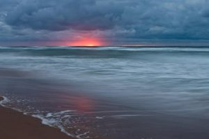 Red Glow Inverness Beach by EvaMcDermott