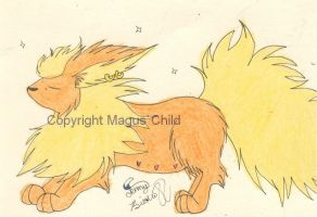 Peaches the shiny flareon by MaguschildCloud