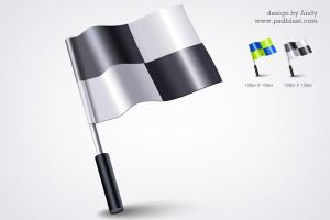 3d flag icon PSD by psdblast