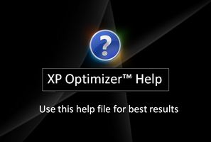 Help File For XP Optimizer Pro by Picassa243