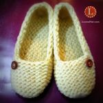 Loom Knit Slippers Socks by LoomaHat