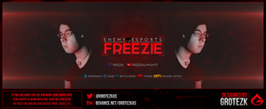NME Freezie - Twitter header by AlexSotoDesign