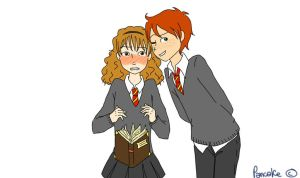 Fred and Hermione by Pancake9Andy