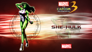 Marvel VS Capcom 3 She Hulk by CrossDominatriX5