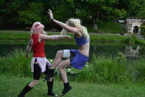 Sakura vs Ino by SniperSunny