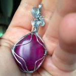 First Wire Wrap Pendant by KitWolfren