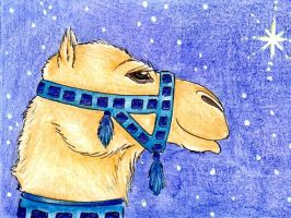 Blue Court Camel ACEO by karja