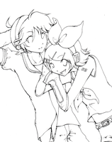 len and rin by sporkful-of-hearts