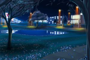 Park at Night by Oneiric-Studios