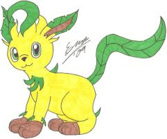 1st Attempt On Leafeon by Marquis2007