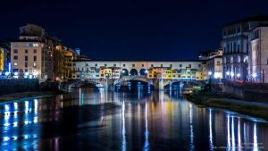 Ponte vecchio by night by pers-photo