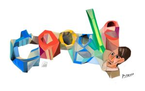 Doodle google Picasso tribute by polikosaurio