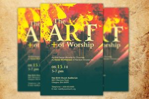 The Art of Worship Church Flyer by loswl