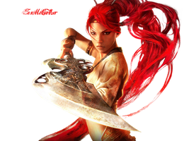 Heavenly Sword Render by FoxMcCarther