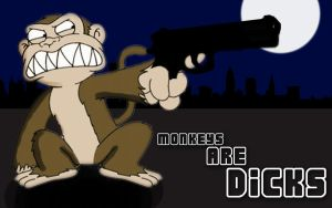 Monkeys Are Dicks by Karl-with-a-C