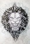 LION Calligraphy Typography by JACK-NO-WAR