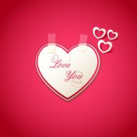 Valentines Day heart card with pink background by vectorbackgrounds